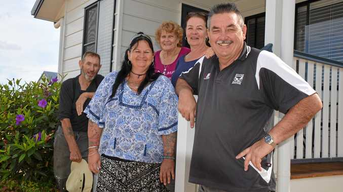 SERVICE: Ivan Glover, Nicky Mooney, Lyn Glover and Jane and Tony Mitchell hosted half of the Danger Close crew at their Wondai Accommodation Units and Villas.
