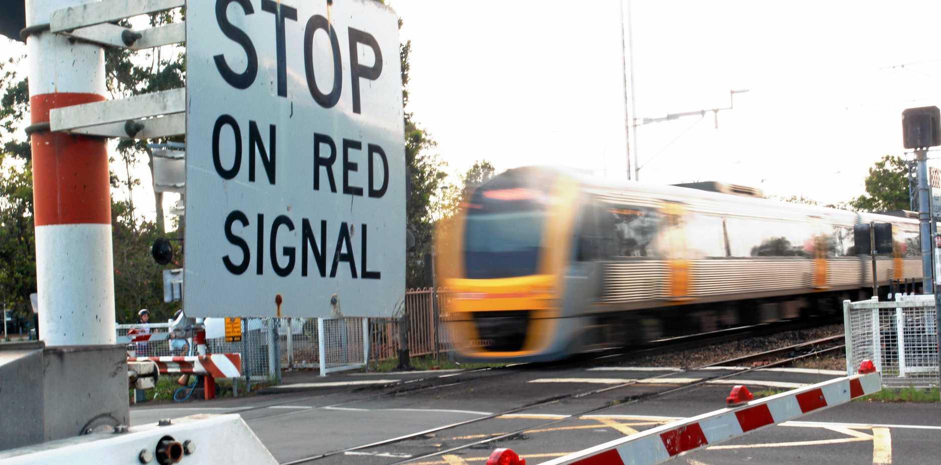 Landsborough railway crossing.