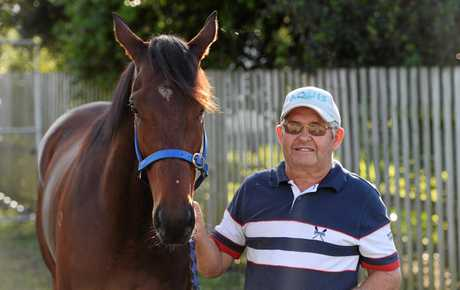 Trainer Kevin Hansen with Casino Thoughts, the top weight for the Winter Provincial Sprinters Series BM 70 (1200m).