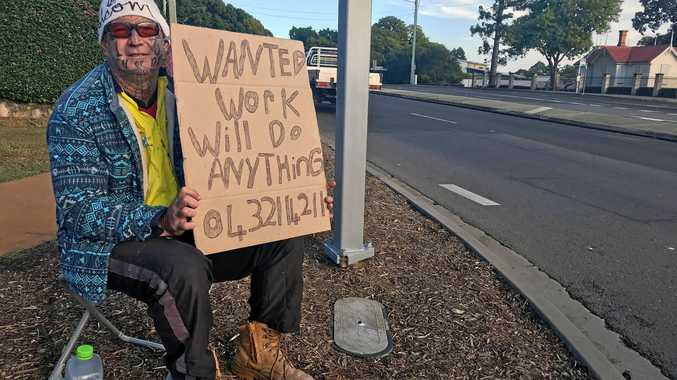 WORK WANTED: The man behind the sign