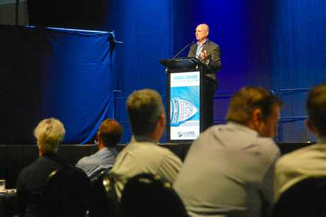 BIG FUTURE: Gladstone Development Board chairman Leo Zussino said Agnes Water could become a retirement hub and tourism destination at a recent business luncheon.