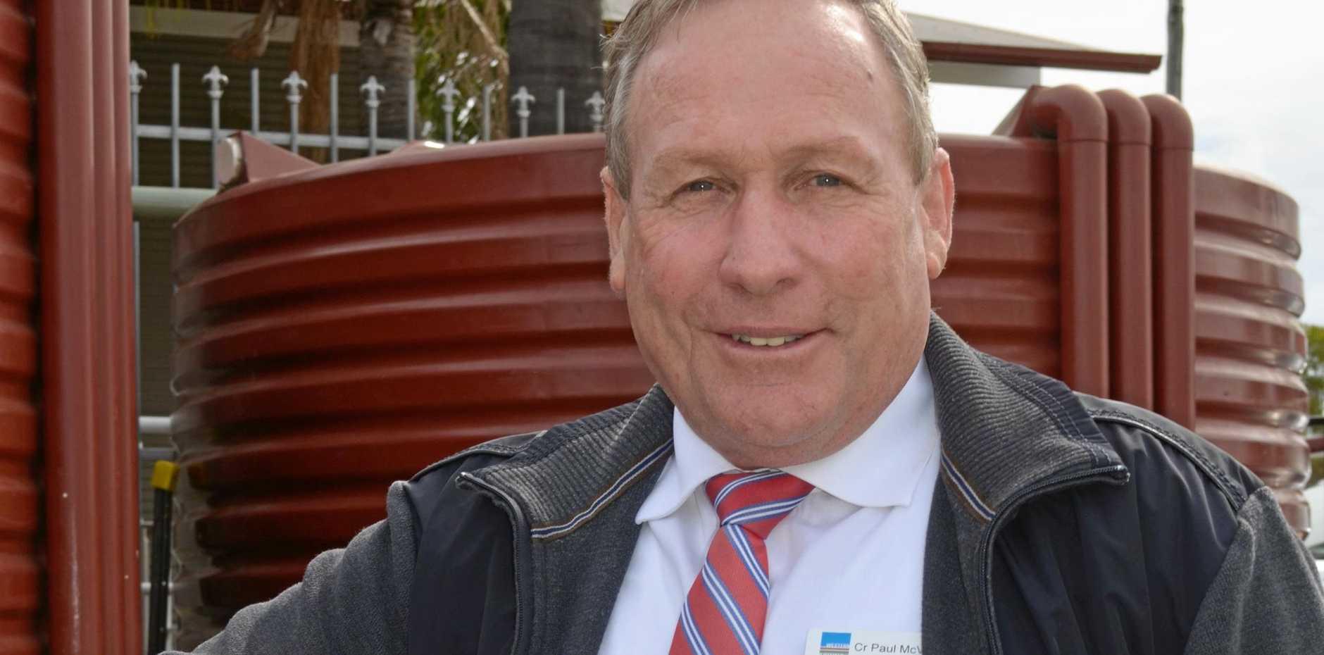 HAPPY: Mayor Paul McVeigh.