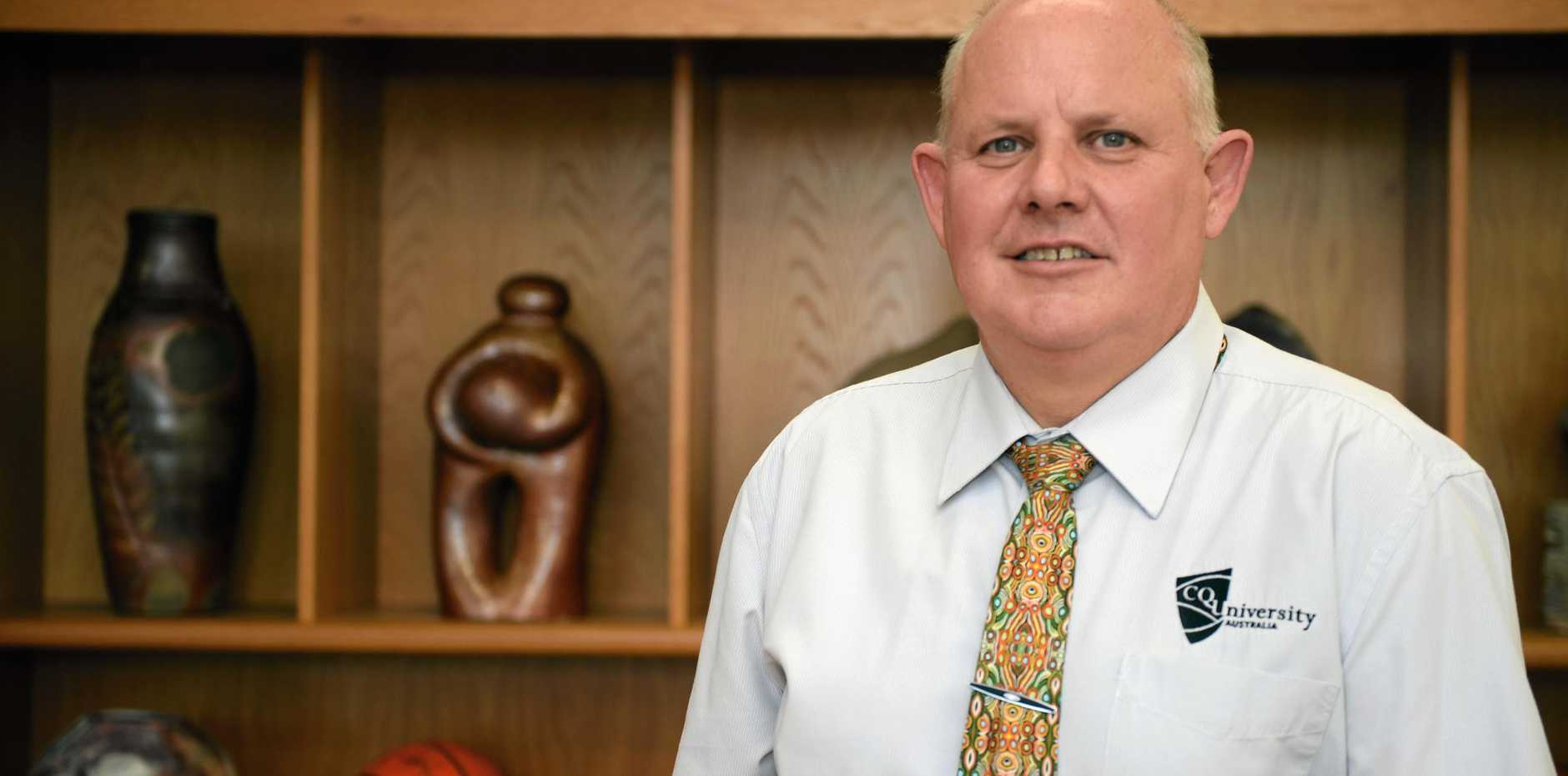 NOT HAPPY: CQ University Vice Chancellor Professor Scott Bowman believes his university has received a raw deal from the Federal Government with the university funding freeze set to hit CQUniversity the hardest and capital city universities the least.