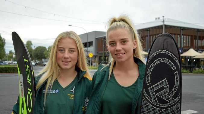CHAMPIONS: Sade and Molly Ferguson are heading to Spain to represent Australia.