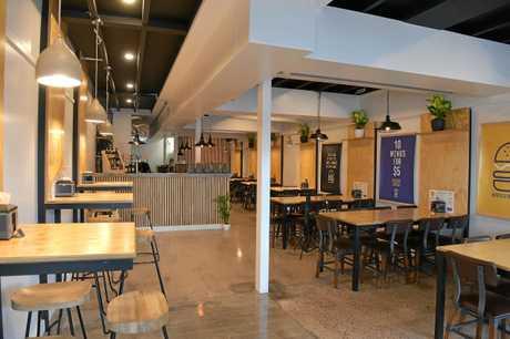Downtown Burger Bar has opened in Ocean Street, Maroochydore.Tiara Lander-Watts with a tasty classic downton burger.