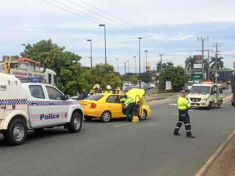 Crash at Gympie near Gympie Central Shopping Centre.