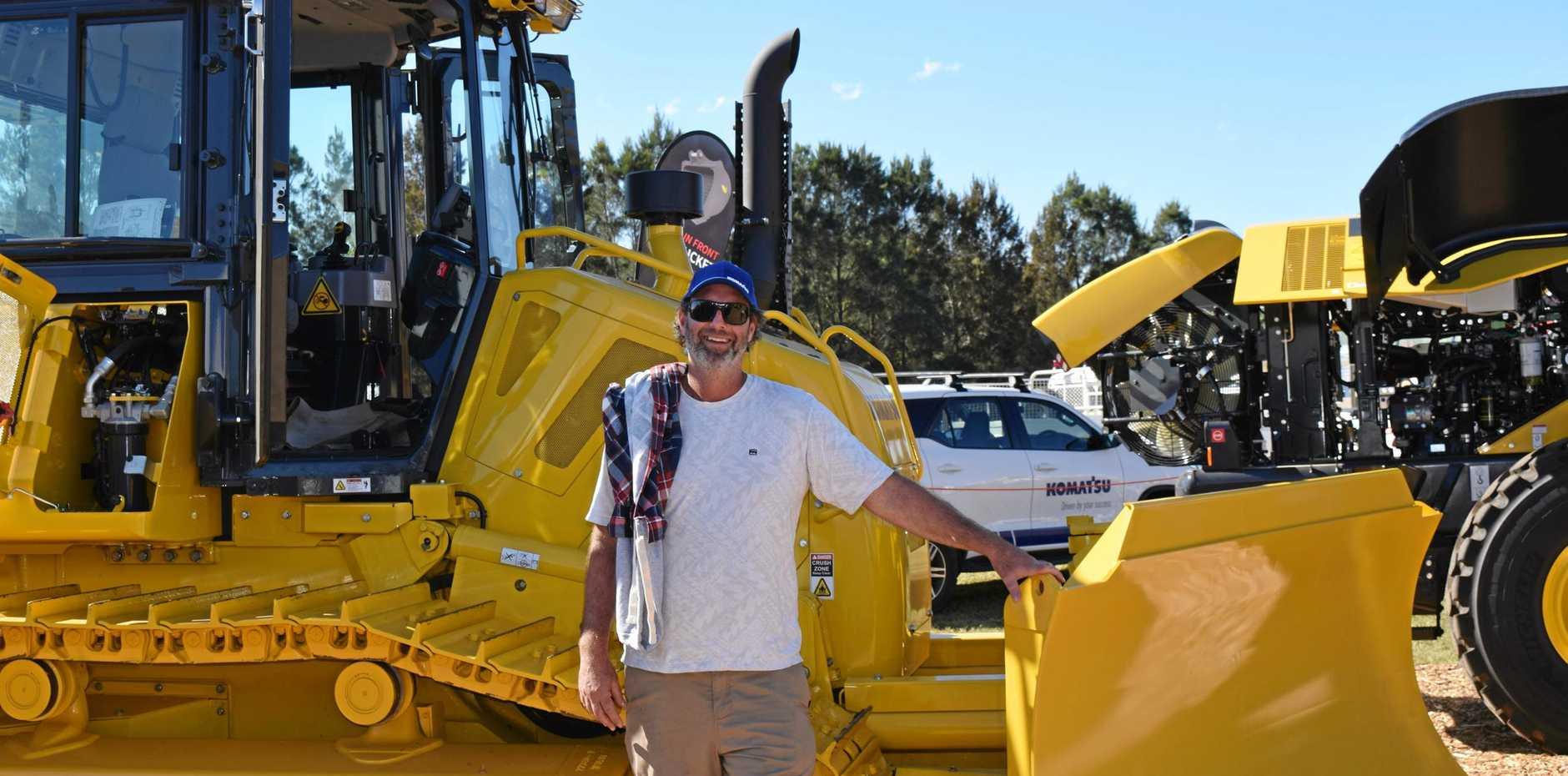 BIG RIG: Cudgera Creek's Mat Egan checks out an