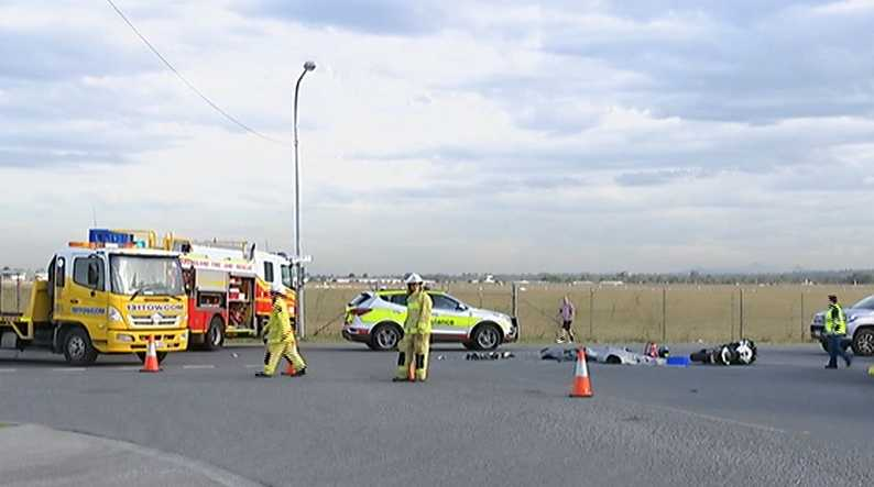 The scene of the crash. Picture: Seven News / Twitter