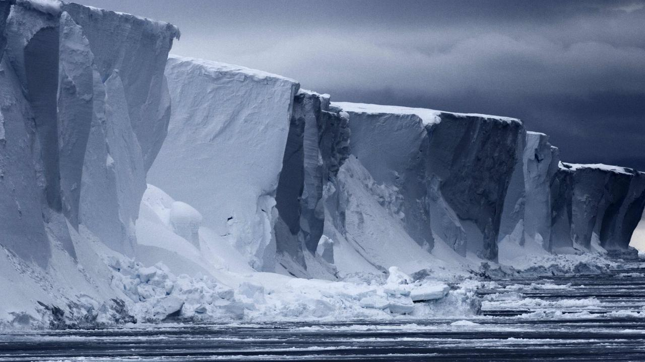 An ice wall in East Antarctica. Picture: John B. Weller/AFP/Pew Charitable Trust