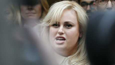 Rebel Wilson outside court in June last year after winning her case. Picture: Getty