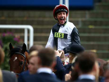 Frankie Dettori celebrates after yet another Ascot win. Picture: Getty Images