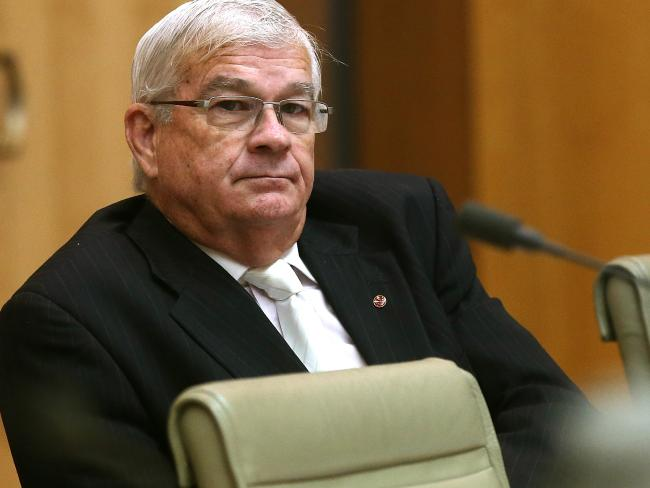 Senator Brian Burston at Parliament House in Canberra. Picture: Kym Smith