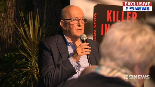 Dr Donald Grant, who has more than 40 years experience as a forensic psychiatrist, held a press conference following the launch of his book.