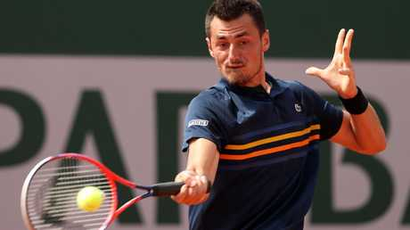 Bernard Tomic is obviously relishing the return to grass courts.