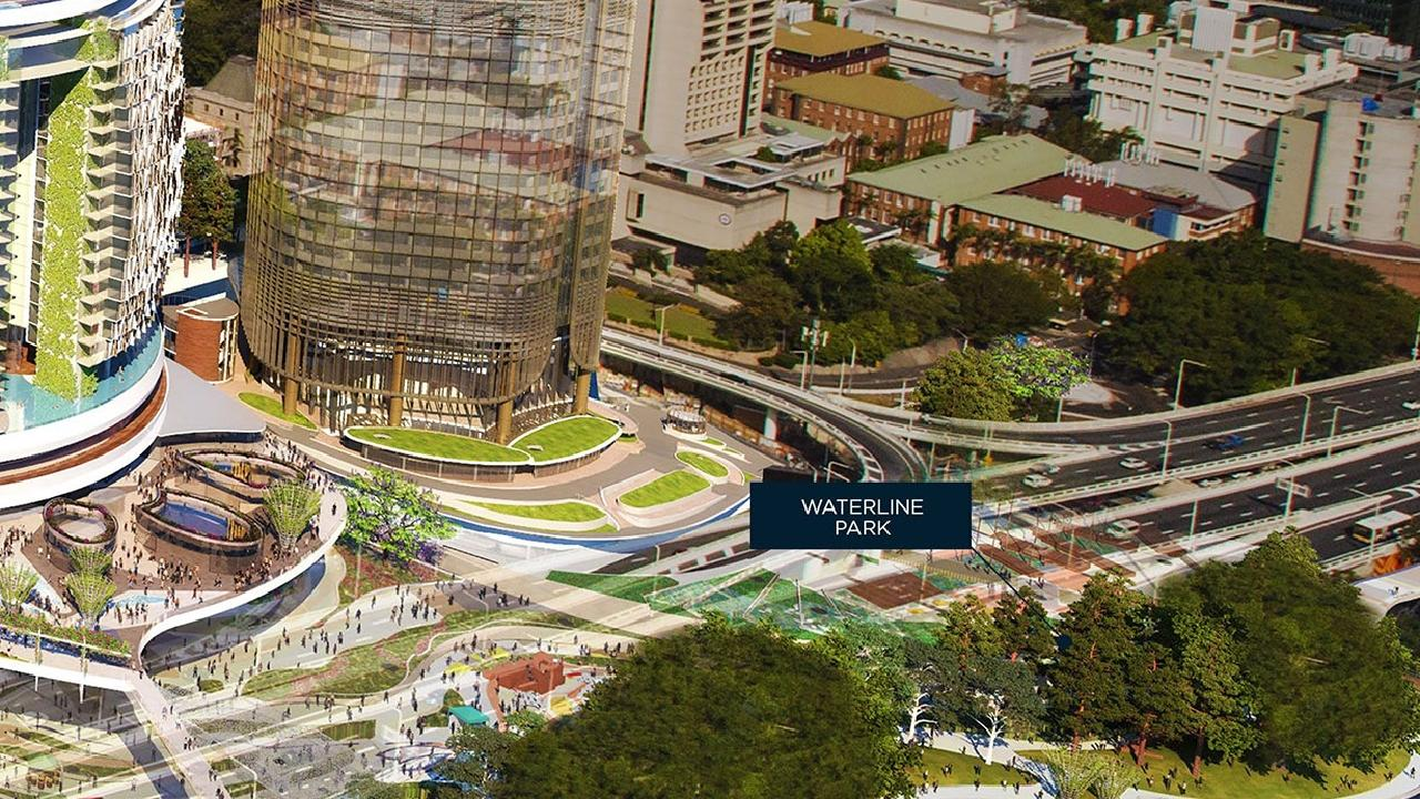 An artist's impression of part of the Queen's Wharf project.