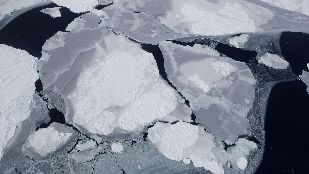 Broken sea ice on Antarctica. Picture: Mario Tama/Getty Images/AFP.