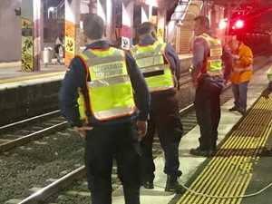 Train fall man in critical condition