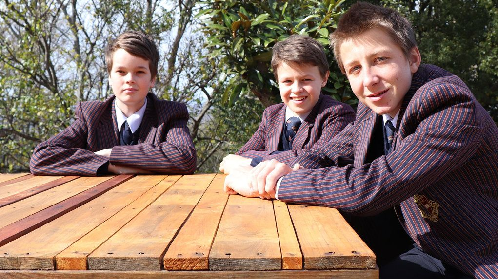 Year 8 TACAPS students (left to right) Michael Briggs, Tom Gleeson and Brendan Ernst.