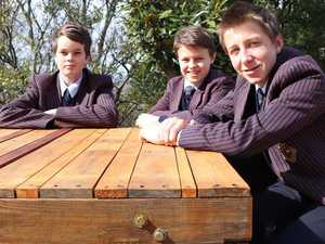 Students hammer out furniture for charity auction