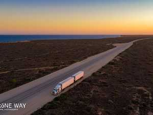 TRUCKS FROM ABOVE: Check out this amazing drone footage