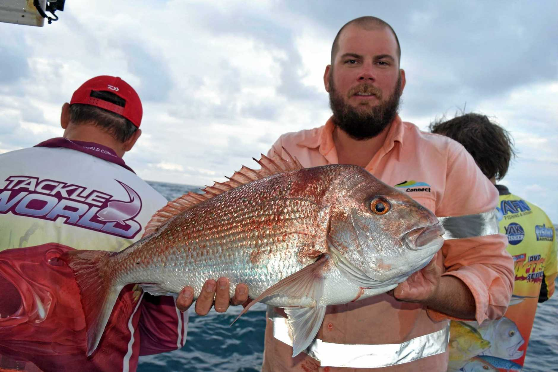 Rainbow Escape Charters crew have been getting some great snapper off Double Island Point.