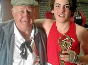 Rocky boxers pull on their Golden Gloves