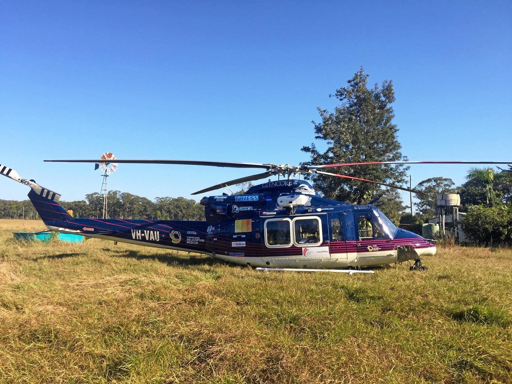 RACQ Capricorn Helicopter Rescue Service was tasked to a 56 year-old who had been found by his neighbour on Friday morning after a quad bike rollover on Thursday afternoon.