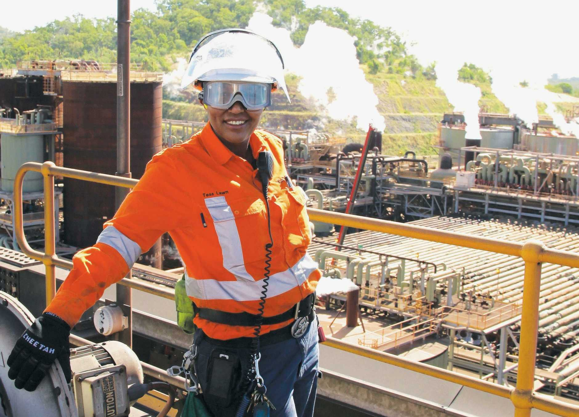 JOBS AVAILABLE: Rio Tinto employee Tess Lawn at the Yarwun Refinery is ready to welcome the next intake of process technician trainees.