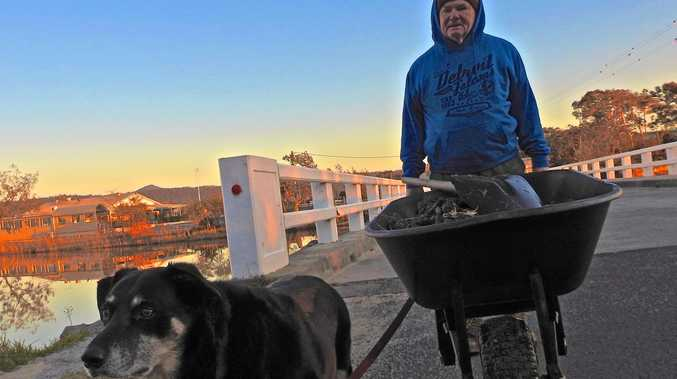 Kenny Parker is missing after going fishing in Brooms Head. Here he is with his dog Digger.