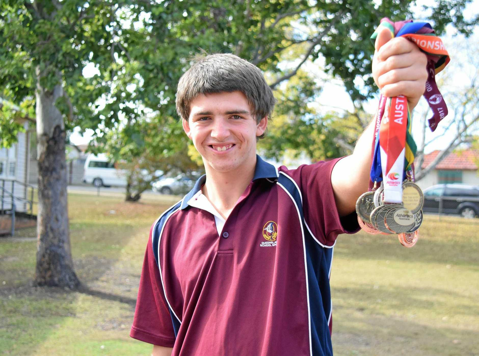 GAMES IN SIGHTS: Richard Bridges won the National Championship for the 800m run last year and has just received Pierre de Coubertin Award from the Queensland Olympic Council.