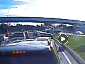 Flying ute crash caught on newly released dash cam