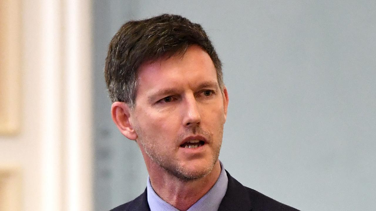 Transport Minister Mark Bailey in State Parliament this morning. Picture: Dan Peled/AAP