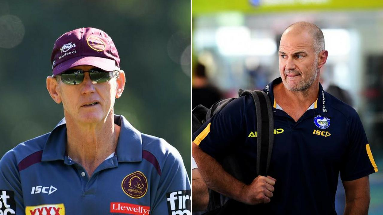 The Eels have rubbished rumours that Wayne Bennett (L) will replace Brad Arthur (R) anytime soon.