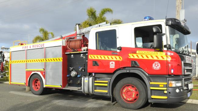 Fire crews are battling a bushfire in Tuan Forest.