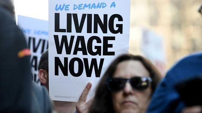 The Fair Work Commission has increased the national minimum wage by 3.5 per cent, to $719.20 a week but union members say this will only equates to 60 cents per hour. Picture: Joe Castro/AAP