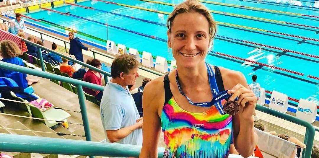 SUPER SWIM: Annika Grunwald at the Queensland State Master SC Swimming Championships Rockhampton.