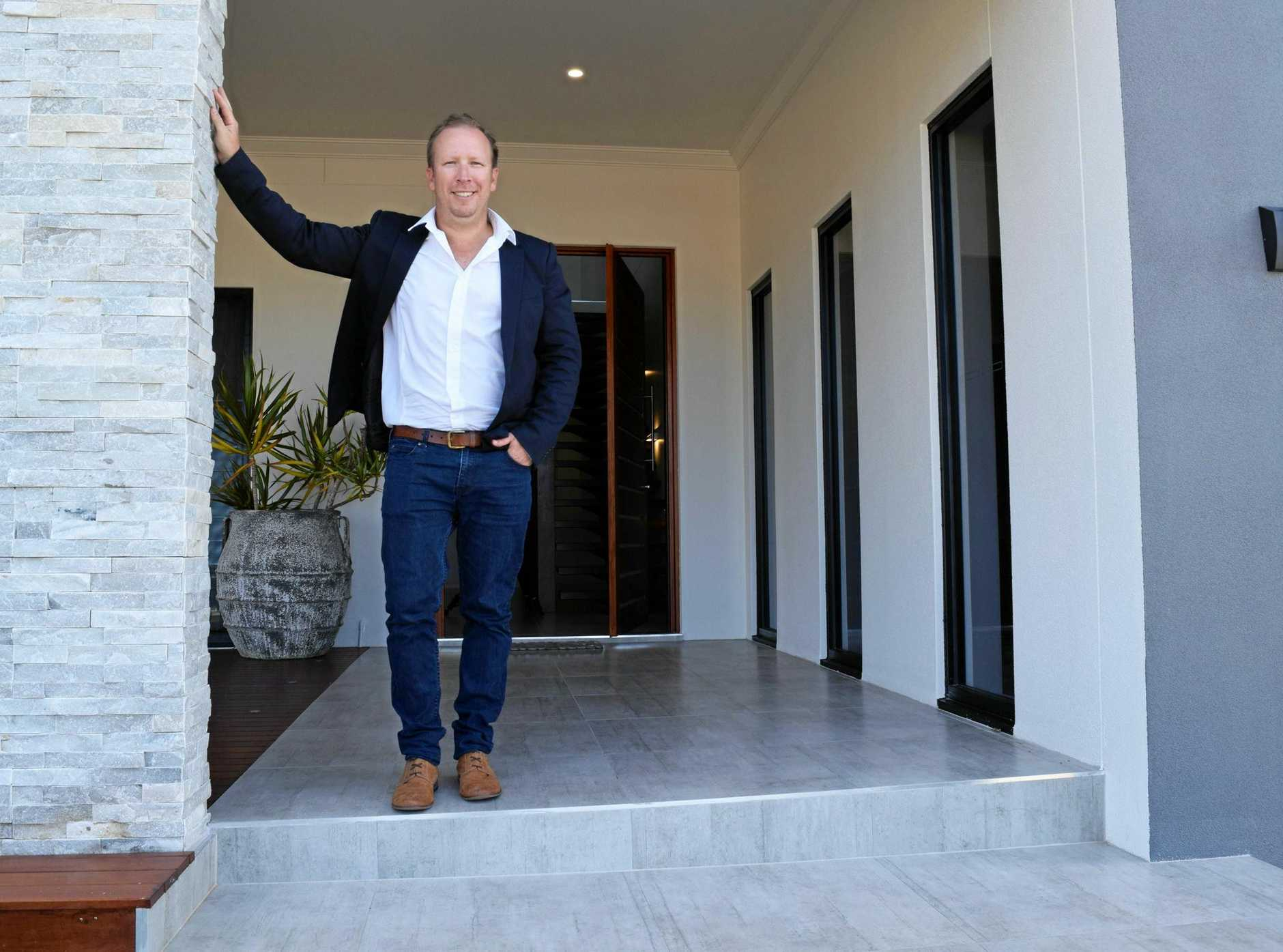 Yeppoon builder and home owner Glen Finning, pictured at his Lammermoor home in 2015, has put his business into voluntary administration.