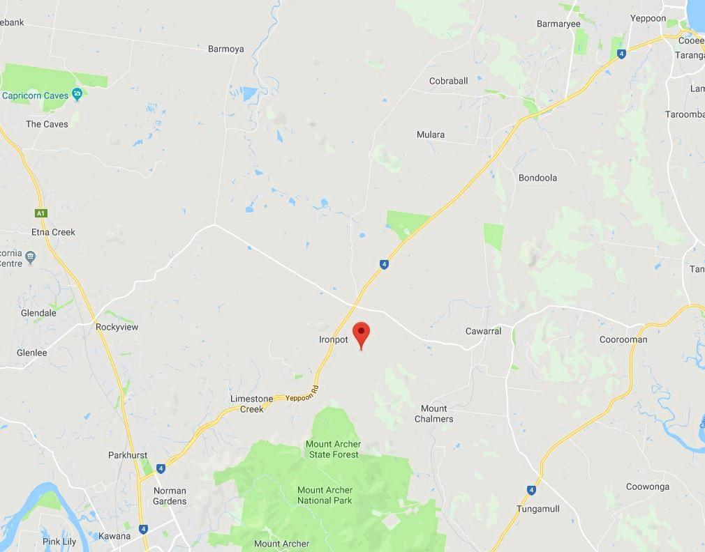 ACCIDENT LOCATION: The incident occurred at Ironpot, which was located between Rockhampton and Yeppoon.
