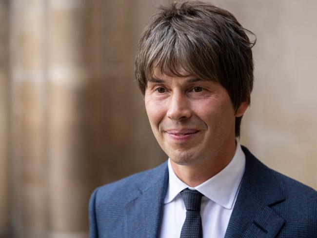 Physicist Brian Cox arrives at Westminster Abbey. Picture: Getty