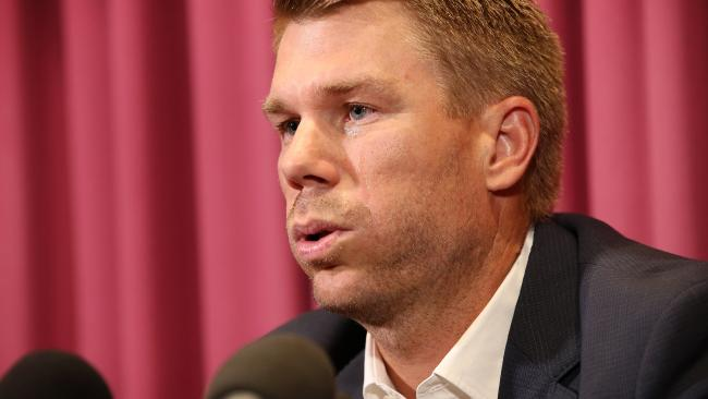 David Warner spoke on Channel 9 before the second ODI.