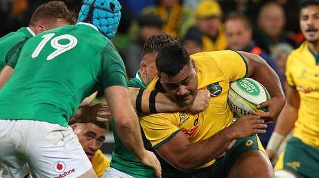 Taniela Tupou in action for the Wallabies. (Photo by Graham Denholm/Getty Images)