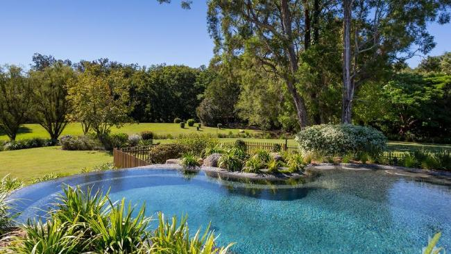 The resort-style pool at the property Laura Geitz has just bought.