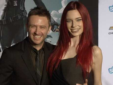 Chris Hardwick and Chloe Dykstra.