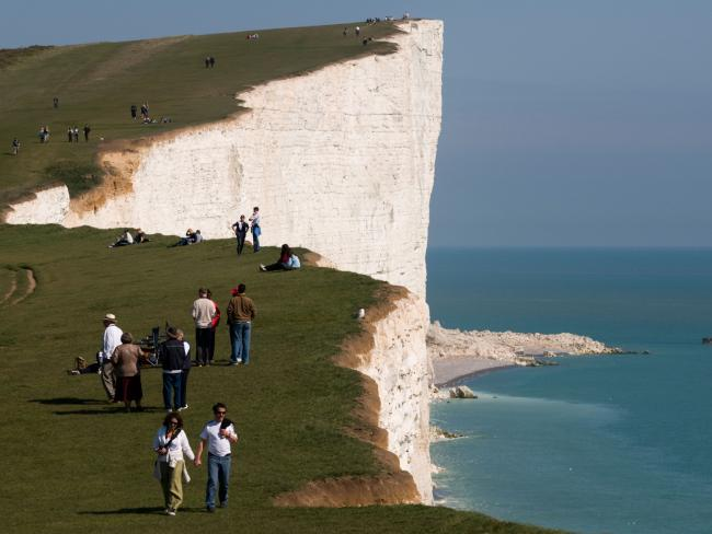 Authorities have issued warnings about straying too close to the edge of cliffs at Beachy Head after large chunks started breaking off. Picture: Alamy