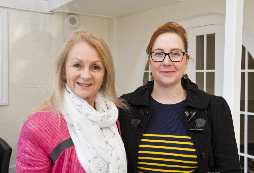 St Vincent's Hospital CEO Kathryn McKeefry (left).