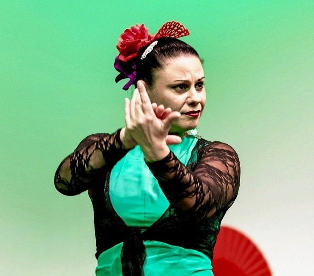 ONE TWO STEP: Yioda Wilson, the flamenco dancer for Conbrio Flamenco.