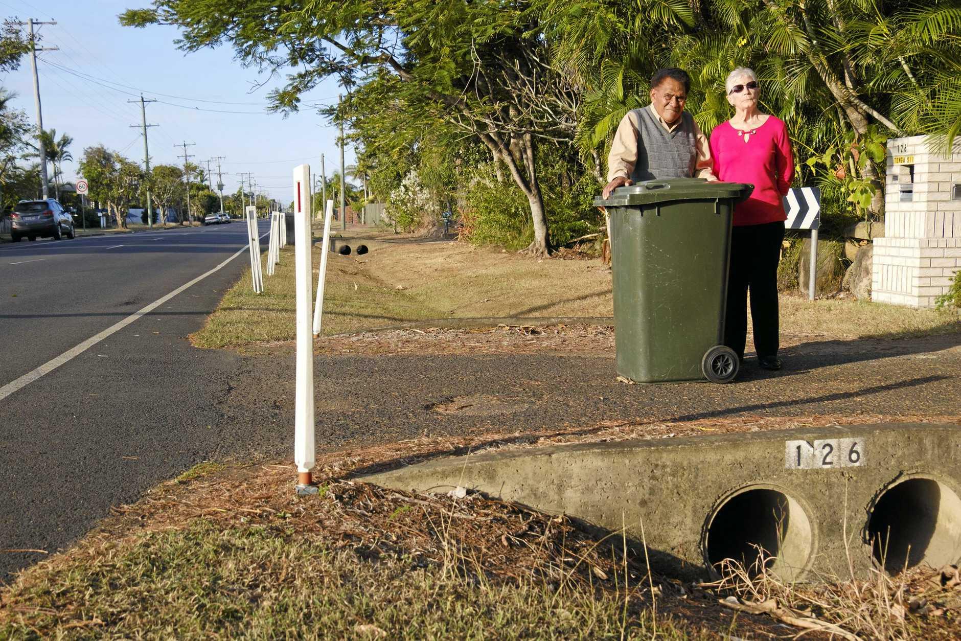 FED UP: McCarthy Street residents Malakai Koloi and Elaine Collett are not happy.