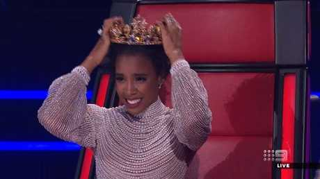 With Sam's win a new Voice queen was crowned. Picture Channel 9