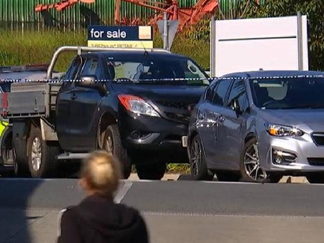 The scene of today's tragedy in Nambour. Picture: Channel 7