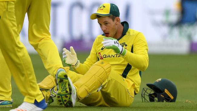 Australian captain Tim Paine will play in ODI 3, despite suffering a blow to the mouth during the Aussies' loss to England. Picture: Getty Images